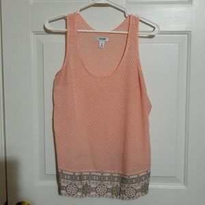 Maternity tank new w/o tags (coral white gray)